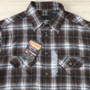 Field & Stream Plaid Flannel Shirt Mens Large New